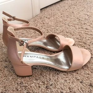 Light pink short chunky heels